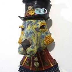 Madeleine Vale. Steampunk Hare. Ceramic. £120