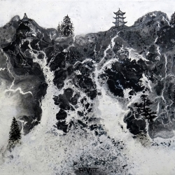 Mo Vyse. Shan Shui (Mountain Water). Mixed Media. £165