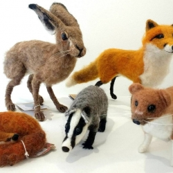 Rachel Scott. Felt Animals. Between £35 and £165