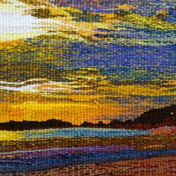 Ros Hornbuckle. Newborough Beach. Woven Tapestry. £195