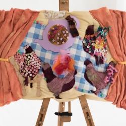 Rachel Harris. Hens. Textile